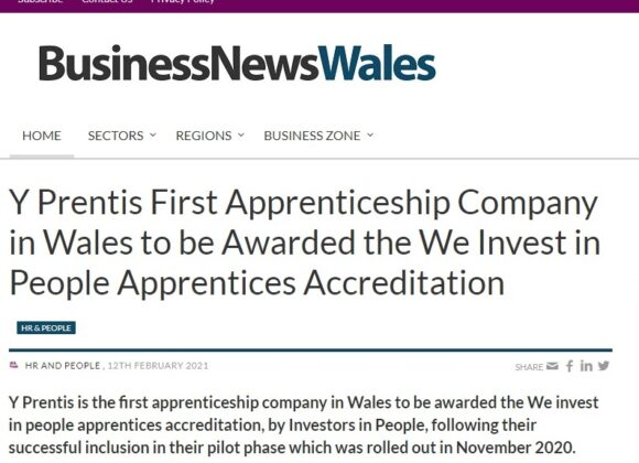 Y Prentis features in Business News Wales Apprenticeship Week Feature