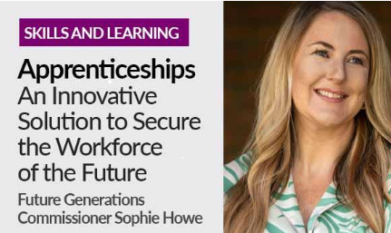 With Apprenticeship Week 2021 already in full swing, Future Generations Commissioner, Sophie Howe, explains why she encourages her children to consider becoming apprentices and what she believes makes apprenticeships a prosperous route into work for future generations to come. gov.wales/apprenticeshipswales
