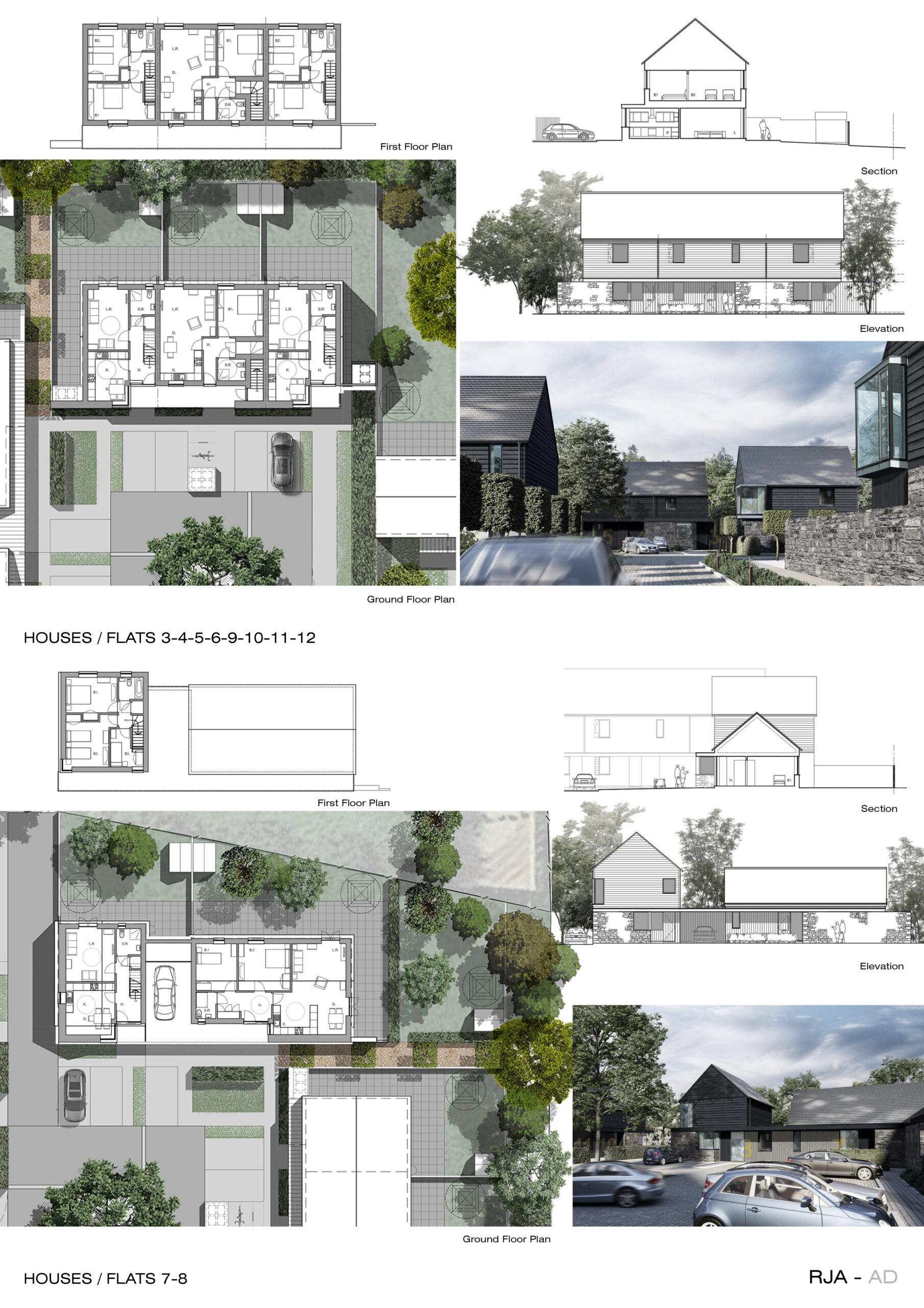 Architectural Design of the Cwrt Canna site in Bridgend
