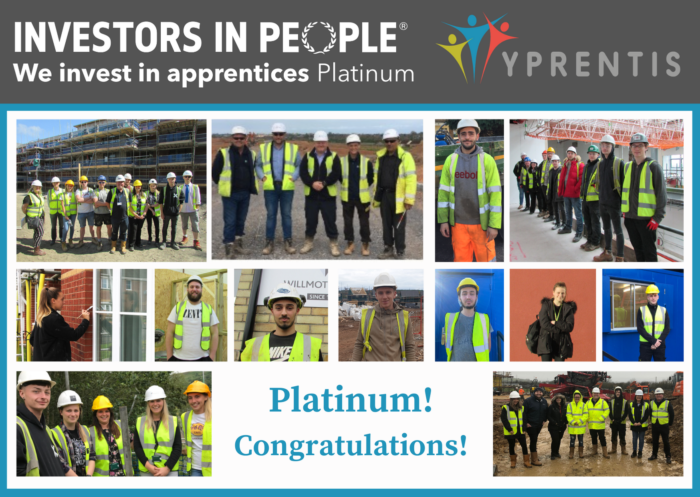 Y Prentis first apprenticeship company in Wales to be awarded the We invest in people apprentices accreditation – Platinum